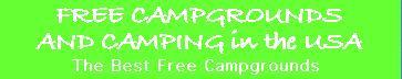 Free Campgrounds in the USA